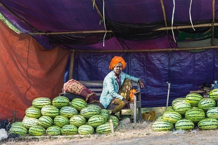 Roadside Watermelon Vendor in Mandalay