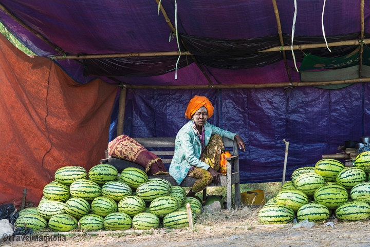 Roadside Watermelon Vendor in Mandalay