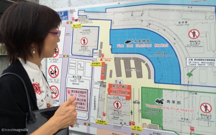 Tsukiji Market Map Tokyo