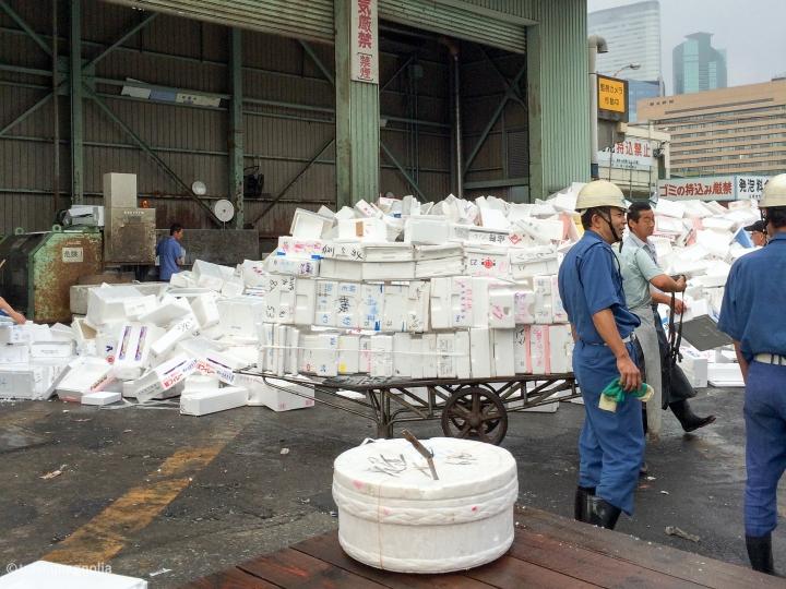 styrofoam waste Tsukiji