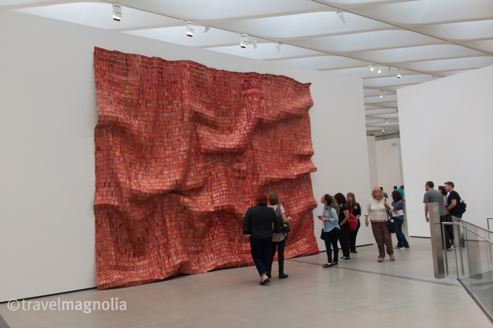 El Anatsui's Red Block