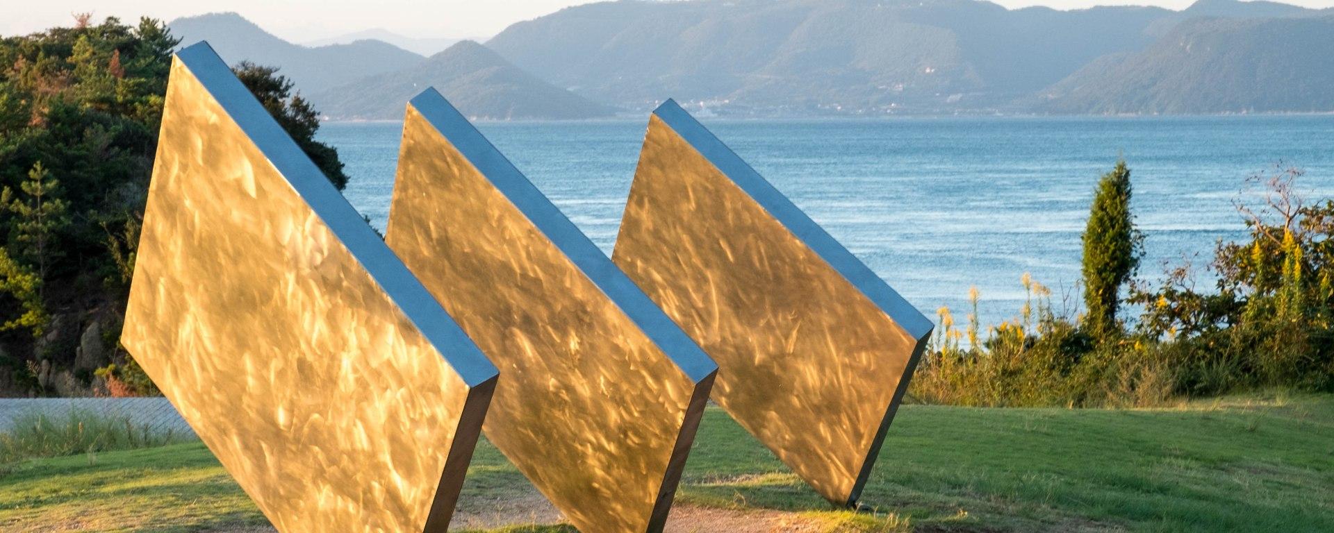 George Rickey Three Squares Vertical Diagonal 1972-82