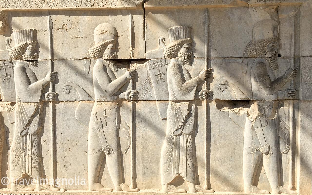 Apadana Palace, Persepolis, Bas Relief, travelmagnolia.me