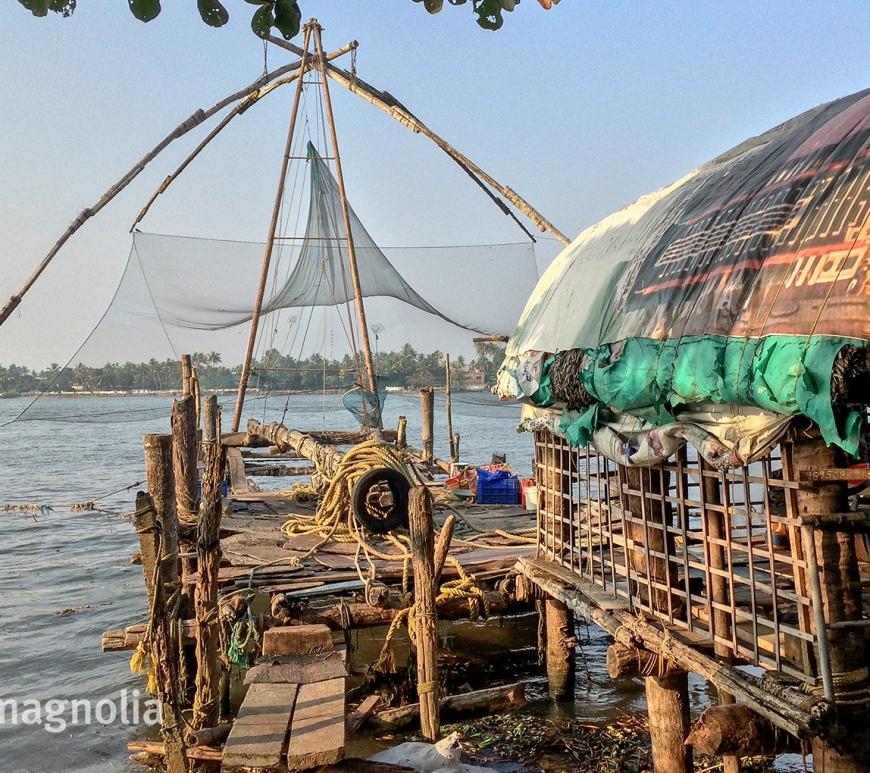 Chinese Fishing Nets, Kochi, Kerala, India, travelmagnolia.me