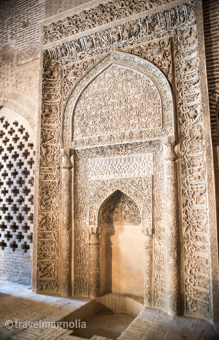 14th century CE mihrab, Jameh Mosque Isfahan