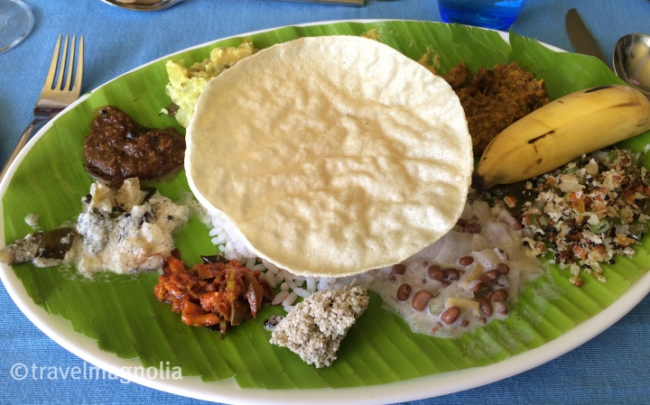 Sadya, vegetarian Indian cuisine, Munnar