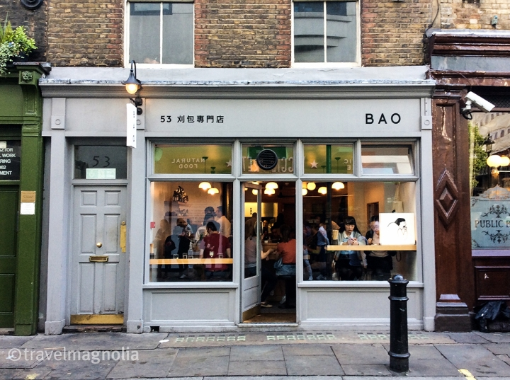 Exterior of Chinese dumpling restaurant Bao in London's SoHo neighborhood. ©travelmagnolia2016