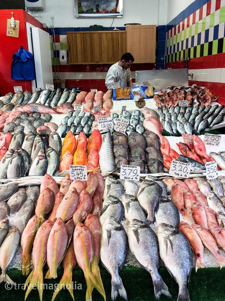 Fishmonger at Brixton Village Market, London, UK ©travelmagnolia