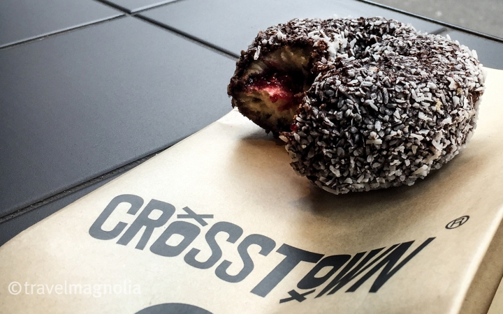 Lamnut (Lamington Doughnut) at Crosstown Doughnuts in London ©travelmagnolia2016