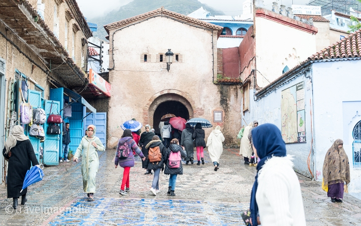 Entrance to the old town of Chefchaouen, Morocco ©travelmagnolia2016