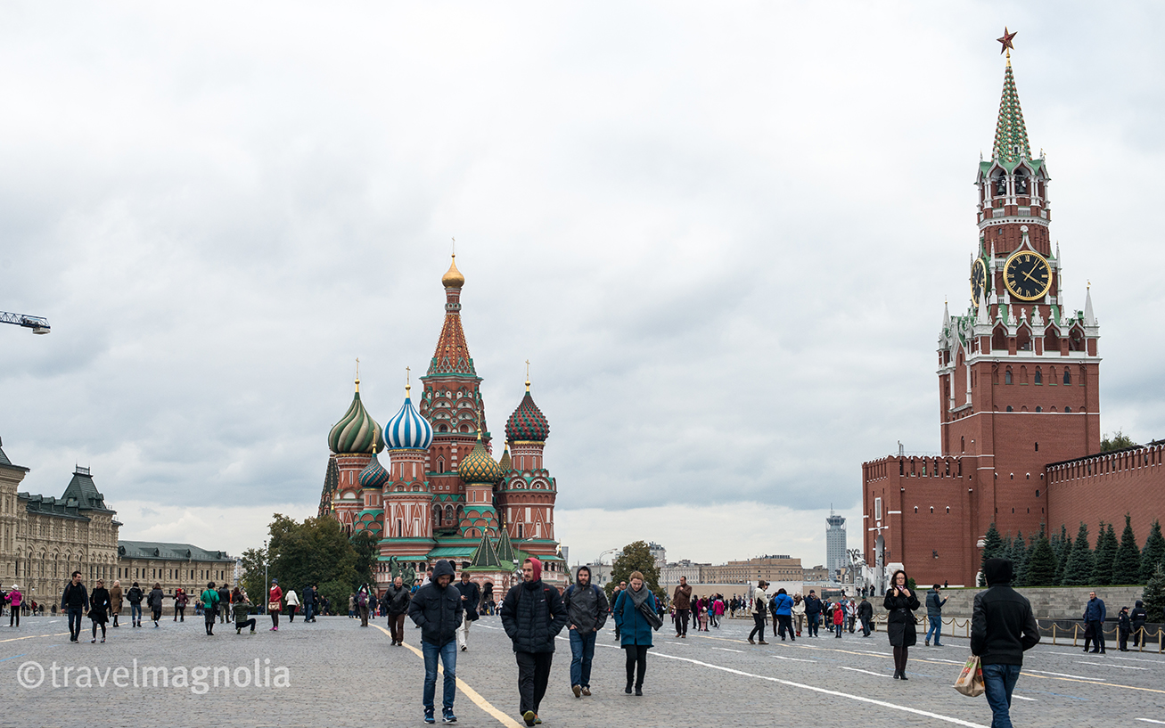 Red Square, St. Basil's Cathedral and the Kremlin, Moscow, Russia ©travelmagnolia2016