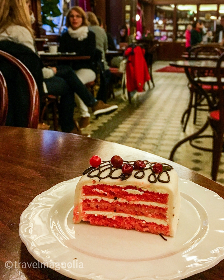Marzipan Cake at Kohvik Maiasmokk in Old Town Tallinn, Estonia ©travelmagnolia2016