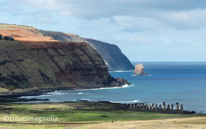 Ahu Tongariki from Rano Raraku