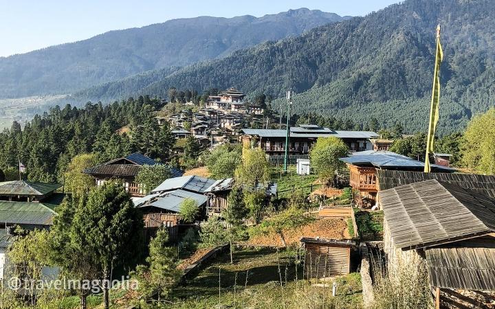 Phobjika_View of Gangtey Goenpa