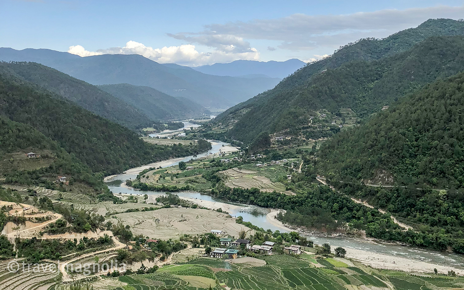 Punakha Valley and Mo Chhu