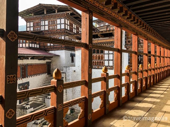 Trongksa_Dzong Interior Courtyard