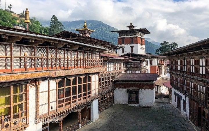 Trongsa Dzong Courtyard